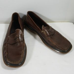 Tod's Brown Leather Slip On Shoes Size 11 1/2